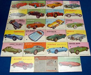 Antique Automobile Sports Car World on Wheels Trading Cards