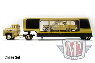 M2 Machines Auto Haulers 1958 Chevrolet Truck 57 1957 Chevy Flames