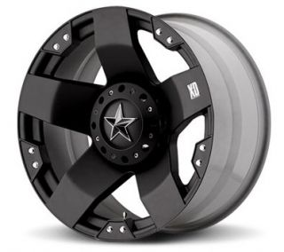 XD Rockstar Black 20x12 Chevy GMC Ford Dodge Jeep H2