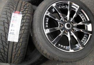 17 Dale Earnhardt Jr Wheels Tires 331 DMP Black Chrome PVD 245 45R17