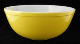 Vintage Yellow Large Pyrex Mixing Bowl 404 4 Quart