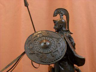 Roman Minerva Athena Bronze Statue Chariot of War Horses E. Fremiet