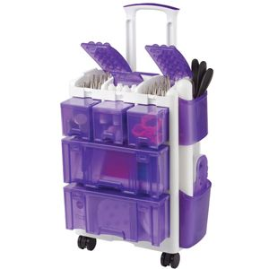 Wilton Ultimate Rolling Tool Caddy Cake Decorating Storage Tool Purple