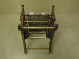 Handcrafted Rocking Chair Early 20th Century Vintage Solid Wood