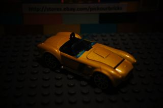 Hot Wheels Yellow Shelby Cobra 427 s C Coupe Convertible Rising Hood
