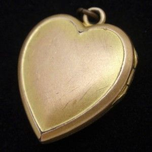 Heart Shaped Locket Vintage Super Nice Flower Design