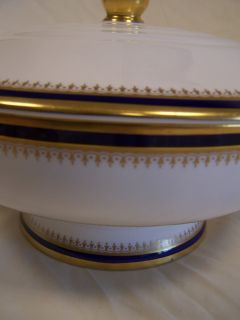 Spode Tureen Y4783 Knightsbridge Cobalt Blue White Gold
