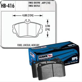 Hawk Performance Brake Pads HPS Front Ford Lincoln Mercury Set HB416F