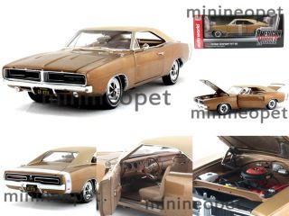 1969 69 Dodge Charger R T SE 440 1 18 Diecast Bronze Metallic