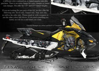 Ski Doo XP Rev MXZ Summit 08 12 Machinehead Wrap Graphics Renegade