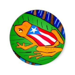 Coqui flag Sticker Small