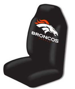 Denver Broncos Seat Cover Bucket NFL Licensed Single Easy Slip on