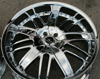20' Chrome Staggered Rims