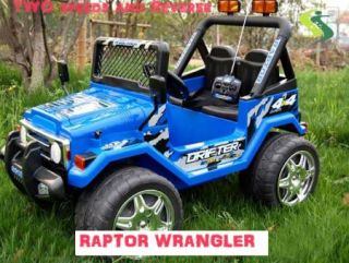 Wrangler Kids Ride On Car Battery Power Remote Control Wheels R/C