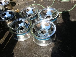454 SS Sport Chrome Rims Chevy 5x5 Wheels Lug Nuts and Caps All