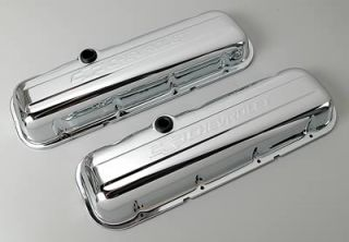 Stamped Steel Chevrolet Valve Covers 141 114 Chevy BBC 396 427 454