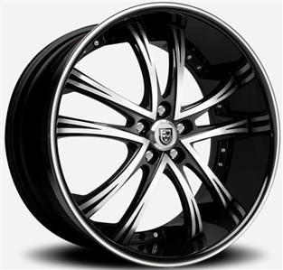 26x10 Lexani LSS 55 Black Wheel Rim 5x150 Tundra Sequoia LX470