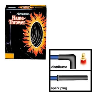 Spark Plug Wires Flame Thrower Carbon Graphite 8mm Black Chevy 454 Set
