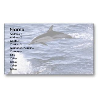 Common dolphin business card template