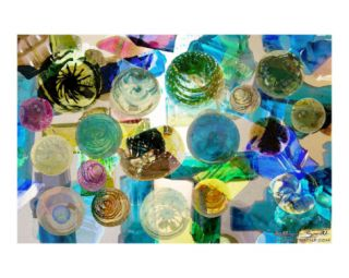 Colored Blown Glass Collage Photographic Print by Kathryn M. Smith at