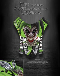 Arctic Cat F7 03 06 Green Hood Graphics Decals Sabercat The Jesters