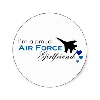 Proud Air Force Girlfriend Sickers
