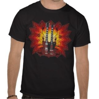 Double Neck Guitar & Graphics T Shirt Guitar