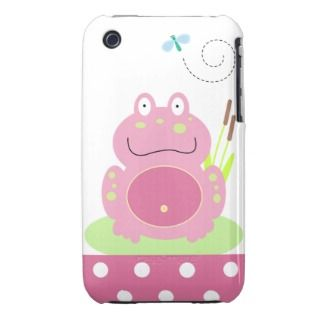 Fiona the Pink Frog Case Mate iPhone 3G/3GS Case iPhone 3 Cases