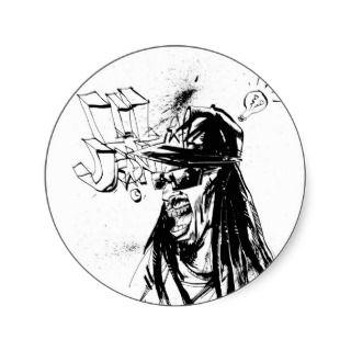 Lil Jon Collaboration by Jim Mahfood and Lil Jon Round Sticker