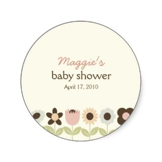 Spring Garden Favor Stickers or Gift Tag Stickers