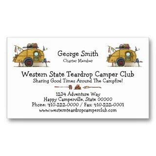 Teardrop Camper Travel Trailer Business Card Template