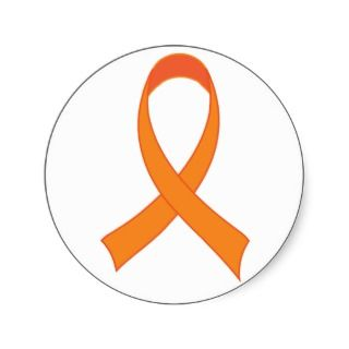 Personalized Orange Ribbon Awareness Gift Sticker