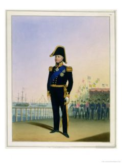 Portrait of King William IV (1765 1837) Plate 14 from Costume of the Royal Navy and Marines Giclee Print by L. And Eschauzier Mansion