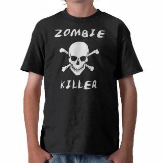 Zombie Killer T shirt   Walking Dead Horror Fan