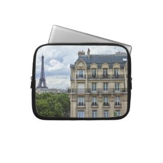 Eiffel Tower and Building Laptop Computer Sleeves