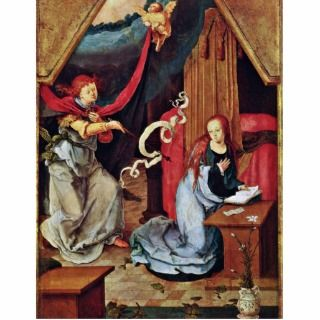 Annunciation By Leyden Lucas Van (Best Quality) Cut Outs