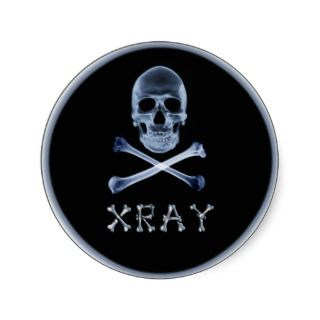 XRAY PIRATE Flag RADIOLOGY JOLLY ROGER Round Stickers