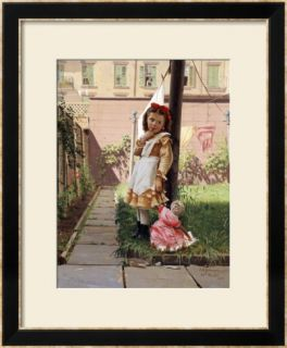 Young Girl in a New York Garden, 1871 Framed Giclee Print