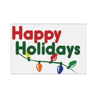 Happy Holidays Christmas Lights Lawn Sign