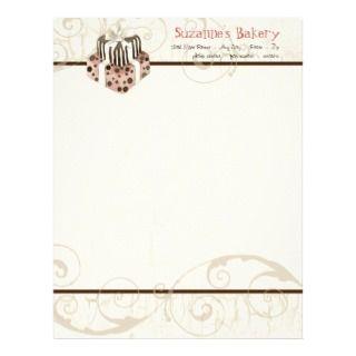 Custom Wedding Cake Modern Dot Stripe Swirls Customized Letterhead
