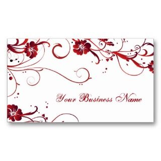 ruby elegance business card templates