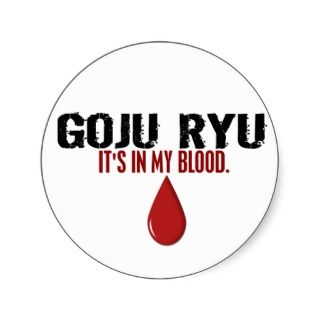 In My Blood GOJU RYU Sticker