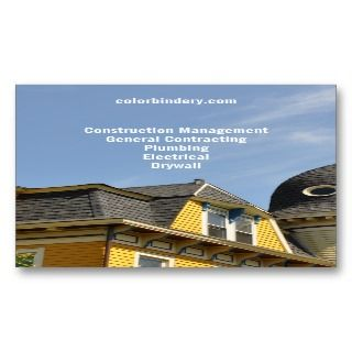Yellow House Blue Sky Contractor Business Card