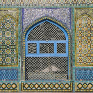 Afghanistan, Mazar I Sharif, Shrine of Hazrat Ali, Window Photographic Print by Jane Sweeney