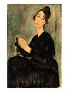 Portrait of Dedie Giclee Print by Amedeo Modigliani