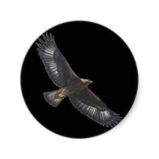 Glorius Golden Eagle Soaring Stickers