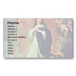 Immaculate Conception Of The Venerable Ones Business Card Templates