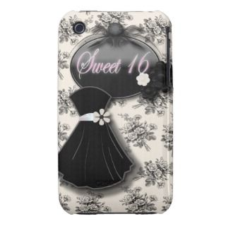 Cute Black and White Rose Sweet 16 Case mate Case iPhone 3 Case Mate