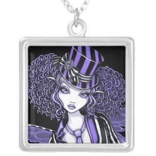 Fiona Purple Steampunk Couture Fairy Necklace