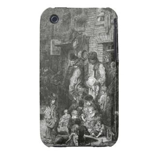 Wentworth Street, Whitechapel by Gustave Dore iPhone 3 Covers